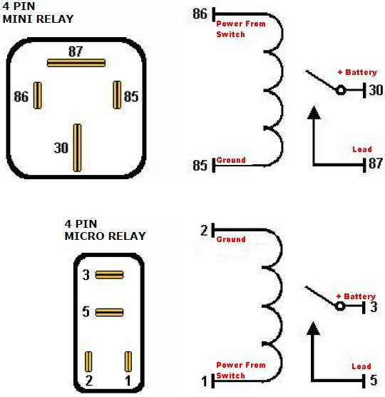 34570d1293986561 4 prong relay diagram relay wiring diagram for a 5 pin relay ireleast readingrat net 4 pole relay wiring diagram at soozxer.org