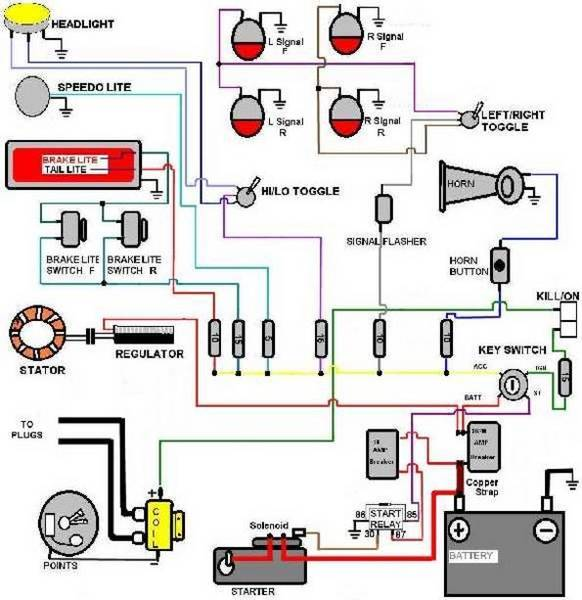 universal simple wiring diagram? xs1100 chopper wiring diagram