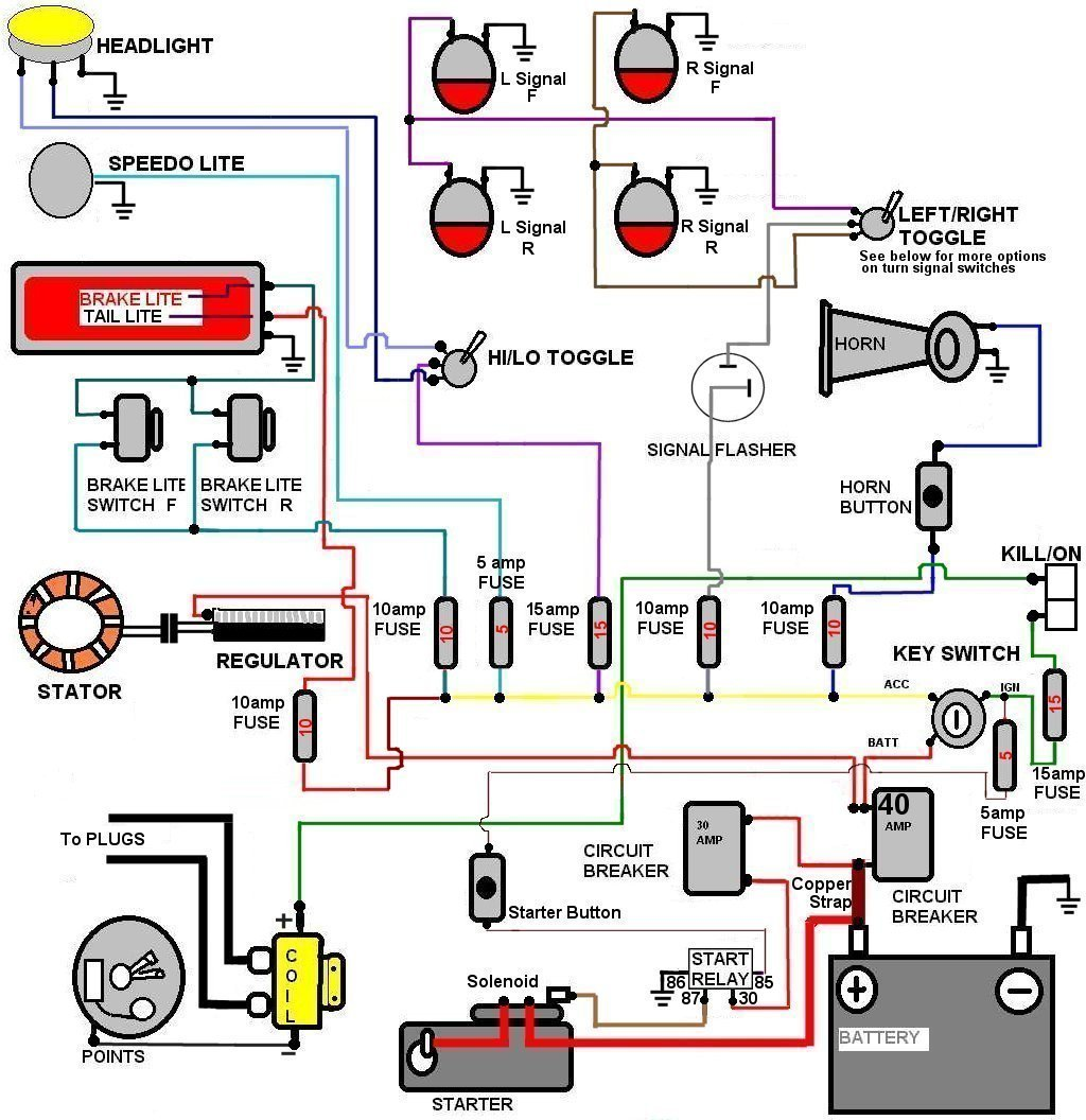 wiring1 simple ironhead wiring diagram simple yamaha wiring diagram \u2022 free Harley -Davidson Sportster 1200 Custom at gsmportal.co